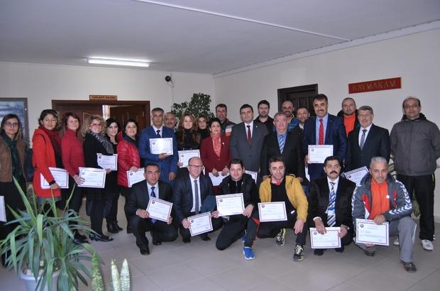 ethiye'de milli eğitim personeline başarı belgesi verildi