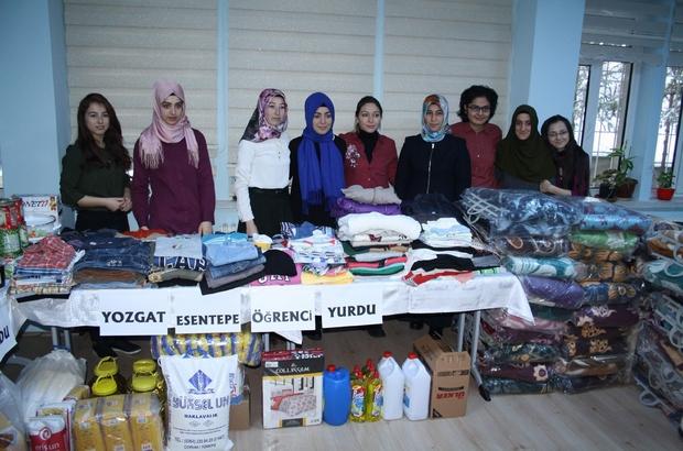 Yozgat KYK öğrencileri Halep için seferber oldu