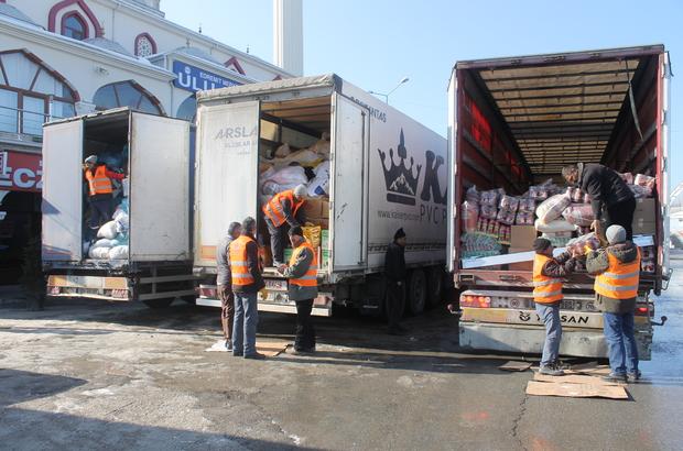 Edremit'ten Haleplilere yardım