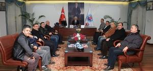 15 Temmuz gazisi, kulübüyle Başkan Kılıç'ı ziyaret etti
