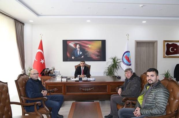 Oltulu Basın Mensupları Kaymakam Turan'ı ziyaret etti