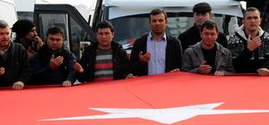 Osmaniye'de servis şoförlerinden teröre tepki konvoyu
