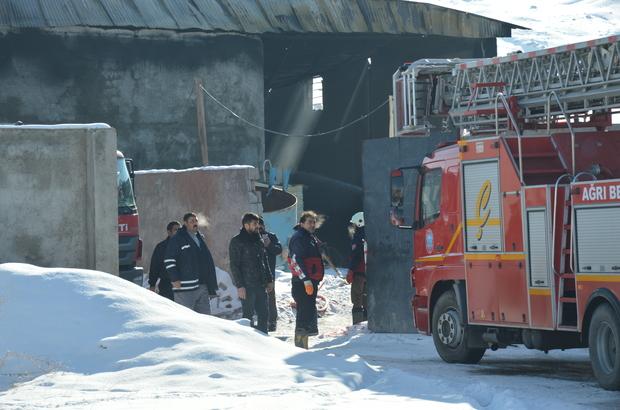 Doğubayazıt'ta akaryakıt istasyonu deposunda yangın