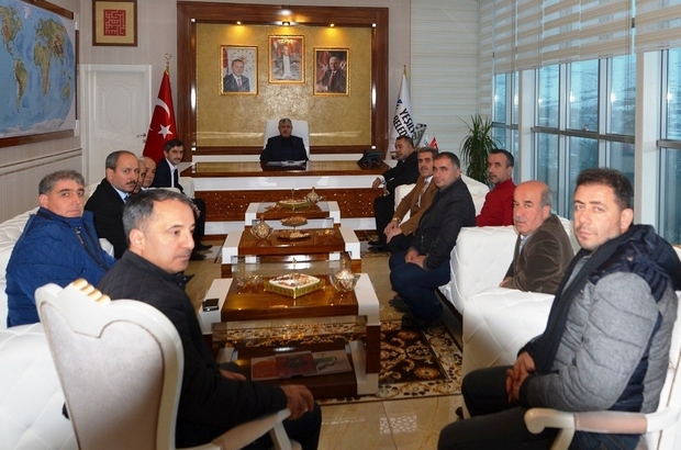 Polat, şube başkanlarıyla bir araya geldi