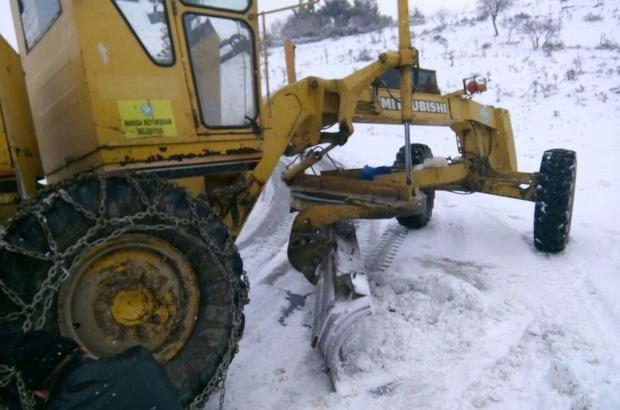 Manisa Büyükşehir karla mücadele ekipleri görev başında