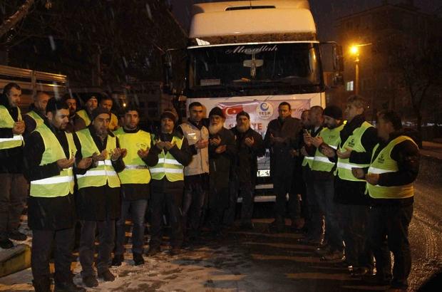 Çankırı'dan Haleplilere yardım