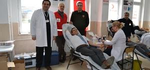 Alaçam'da örnek kan bağışı