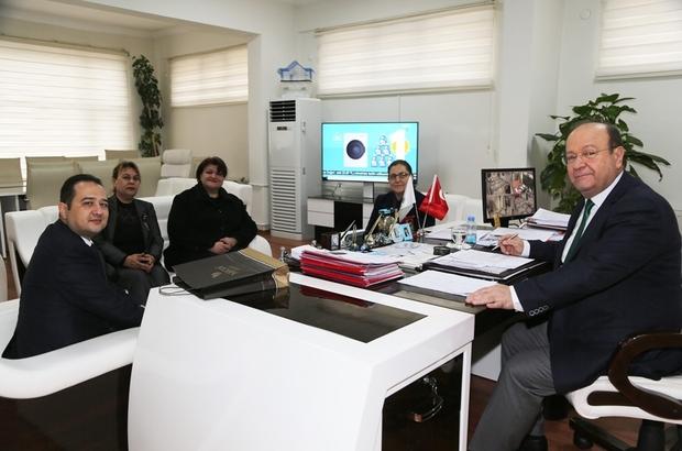 Zafer Ortaokulu'ndan Başkan Özakcan'a teşekkür ziyareti