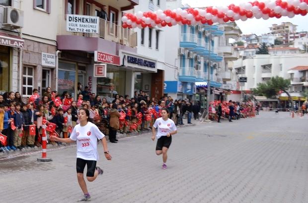 """15 Temmuz şehitleri anısına """"Hayata Datça'da Bağlan"""" gençlik koşusu yapıldı"""