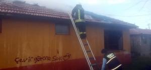 Metruk evde yangın