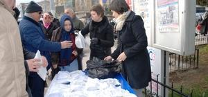 Çerkezköy ve Çorlu'da adaçayı dağıtıldı