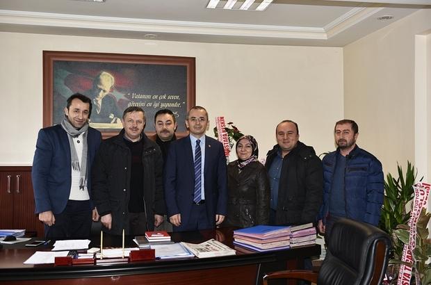 """Gazetecilerden; Kaymakam Deniz Pişkin'e """"Hayırlı Olsun"""" ziyareti"""