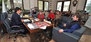 Başkan Demirağ'a Foça ADD'den ziyaret