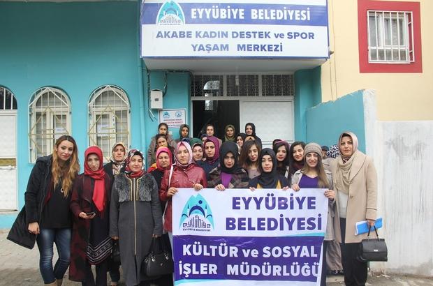 Eyyübiye Belediyesi bayan kursiyerleri sinema ile buluşturdu