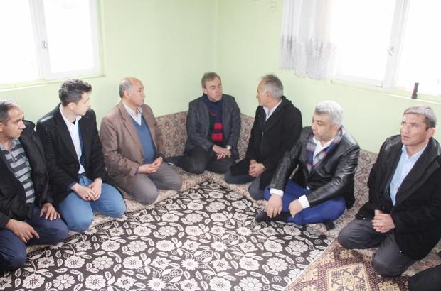 Milletvekili ve başkandan iki çocuğunu kaybeden aileye taziye ziyareti