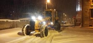 Seyitgazi Belediyesi ekiplerinin karla mücadelesi