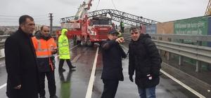 Başkan Hasan Akgün, vinç kazasının yaşandığı yerde incelemelerde bulundu