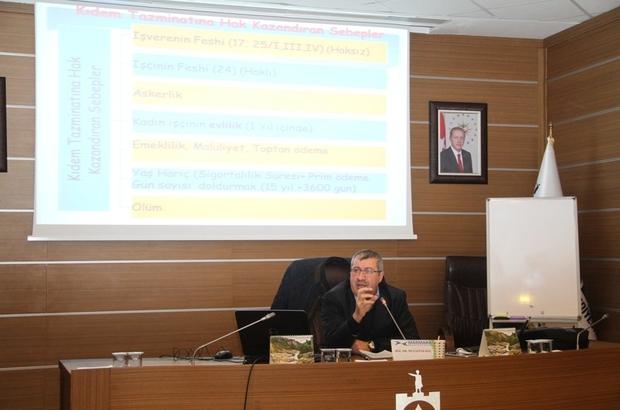 Büyükşehir'den personeline iş hukuku eğitimi