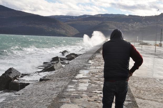 Bartın'da kuvvetli rüzgar