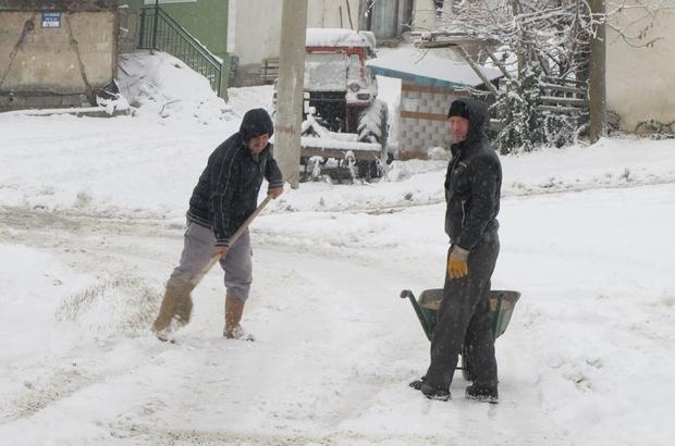 Hisarcık'ta yoğun kar yağışı