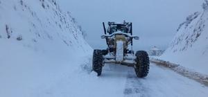 Büyükşehirden kar küreme ve tuzlama çalışması