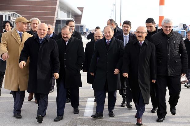 Bakanlar Elvan ve Akdağ Erzurum'da