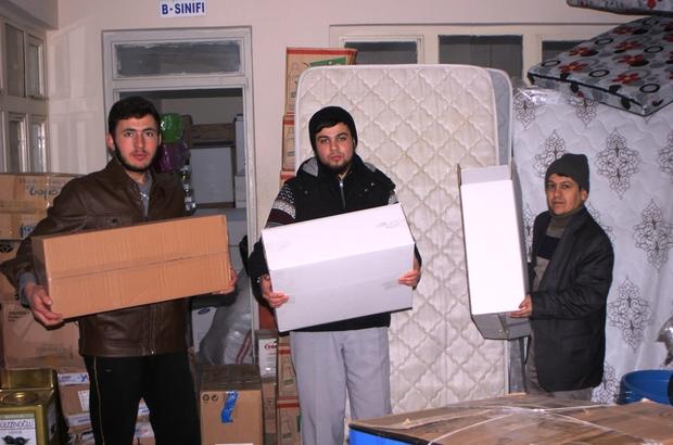 Halep'ten tahliye edilenlere yönelik yardımlar