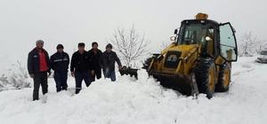 Salihli Belediyesi'nden karla etkin mücadele