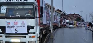 Çekmeköy Halep'e 25 tır yardım gönderdi