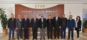 İl Emniyet Müdürü Sel'den ÇTSO yönetimine ziyaret