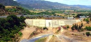 Aydın Gökbel Barajı'nda çalışmalar hızla devam ediyor