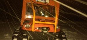 Kar yağışı nedeniyle haber alınamayan aileye AFAD ulaştı