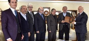 TYB Onursal Başkanı Doğan'dan Başkan Sekmen'e ziyaret
