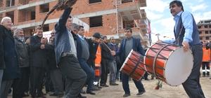 Torbalı'da davullu zurnalı temel atma törenleri