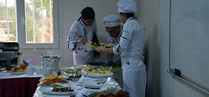 HRÜ aşçıları dönem sonunda hünerlerini sergilediler