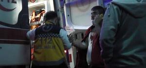 Patlayan fleks taşı iki kişiyi yaraladı