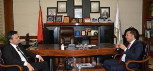 Başkan Toltar, Kaymakam Alkan'ı ağırladı