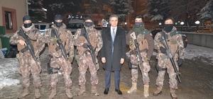 Vali Baruş'tan Polis Özel Harekat'a ziyaret