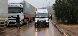 Halep'ten tahliye edilen ailelere yardımlar sürüyor