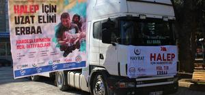Tokat'tan Haleplilere yardım