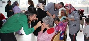 Kursiyerlerden yaşlılara saç bakımı