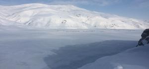 Aşırı soğuklar Sarımehmet barajını dondurdu