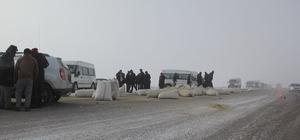 Çaldıran'da maddi hasarlı trafik kazası