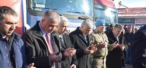 """""""Rotamız Halep, Yükümüz İnsanlık"""" TIR'ları yola çıktı"""