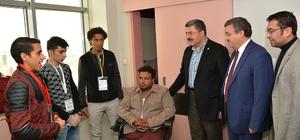 K Parti heyetinden Yemenli hastalara ziyaret