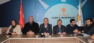 AK Parti Uşak Merkez İlçe Teşkilatı'nın yeni yönetimi ilk toplantısını yaptı