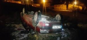 Ehliyetsiz sürücüsünün kullandığı otomobil takla attı: 7 yaralı