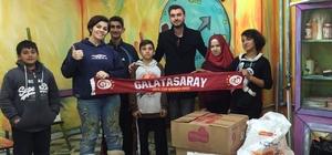 Fethiye'de Galatasaray taraftarları yardıma koşuyor