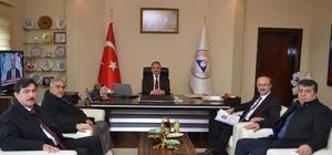 Başkan Gülcüoğlu'ndan rektör Güven'e ziyaret