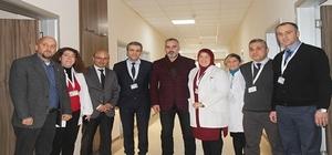 Başkanlardan hastaneye ziyaret